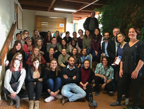 UNT students and University of Rennes 2 students studied together during a study abroad course in November in Rennes, France. (Courtesy of Peter Johnstone)