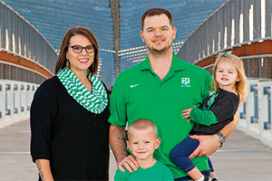 Joining the UNT Alumni Association as life members keeps Kasey and Emery Kamenicky connected to UNT. (Photo by Kasey Kamenicky/FW Creations)