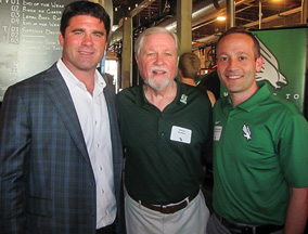 From left to right, Seth Littrell, Michael Davidson and Grant McCasland