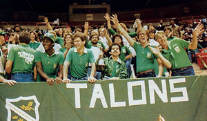 UNT fans celebrate at a game.