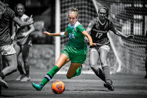 Senior soccer player Tori Phillips has helped her team win the Conference USA regular season championship three years in a row. (Photo by Michael Clements)