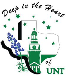 Homecoming 2017 Deep in the Heart of UNT logo