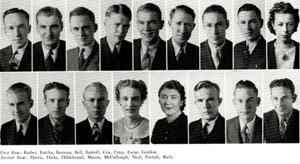 Math Club members, 1939 Yucca