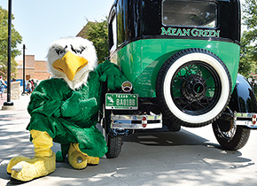 Scrappy with the Mean Green Machine.