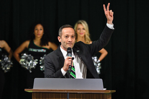 New men's basketball coach Grant McCasland joined UNT this spring. (Photo by Michael Clements)