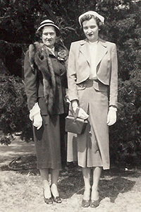 Katy, right, with her mother, Mildred Masters McCarty