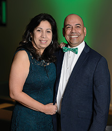 Monica ('06) and Ernest ('11) Martinez (Photo by Ranjani Groth)