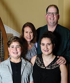 Jason ('11 Ph.D.), Rachel, Ethan and Abigail Simon (Photo by Ranjani Groth)