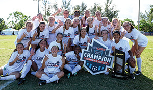 The Mean Green women's soccer team won the 2017 Conference USA Tournament on penalty kicks, 3-1, against the University of North Carolina-Charlotte. (Photo by JC Ridley)