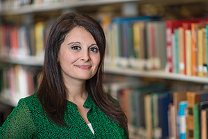 Lilly Ramin, instructional technologies librarian at UNT, is the daughter of Ahmad Ramin, an early student of UNT's Intensive English Language Institute. The program is celebrating its 40th anniversary this year. (Photo by Ahna Hubnik)