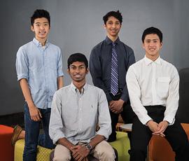 From left, David Yue, Abhishek Mohan, Sahil Patel and Steven Sun (Photo by Ahna Hubnik)
