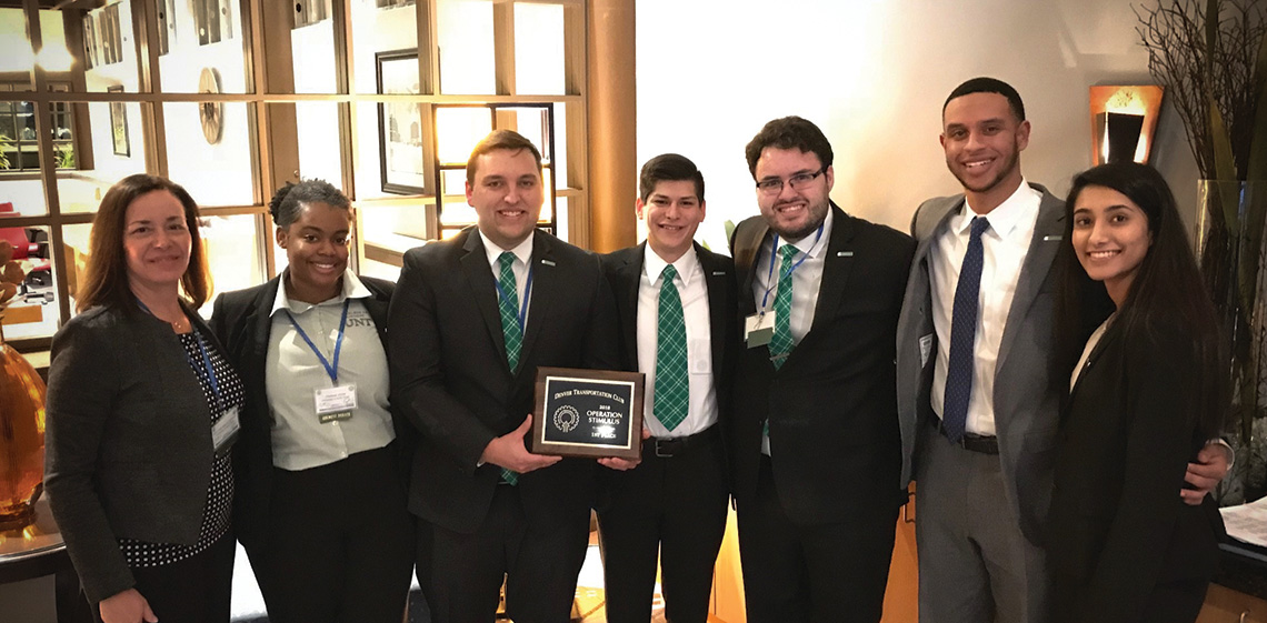 A team of UNT logistics and supply-chain management students won the top prize at Operation Stimulus, a prestigious, highly competitive collegiate case study competition.
