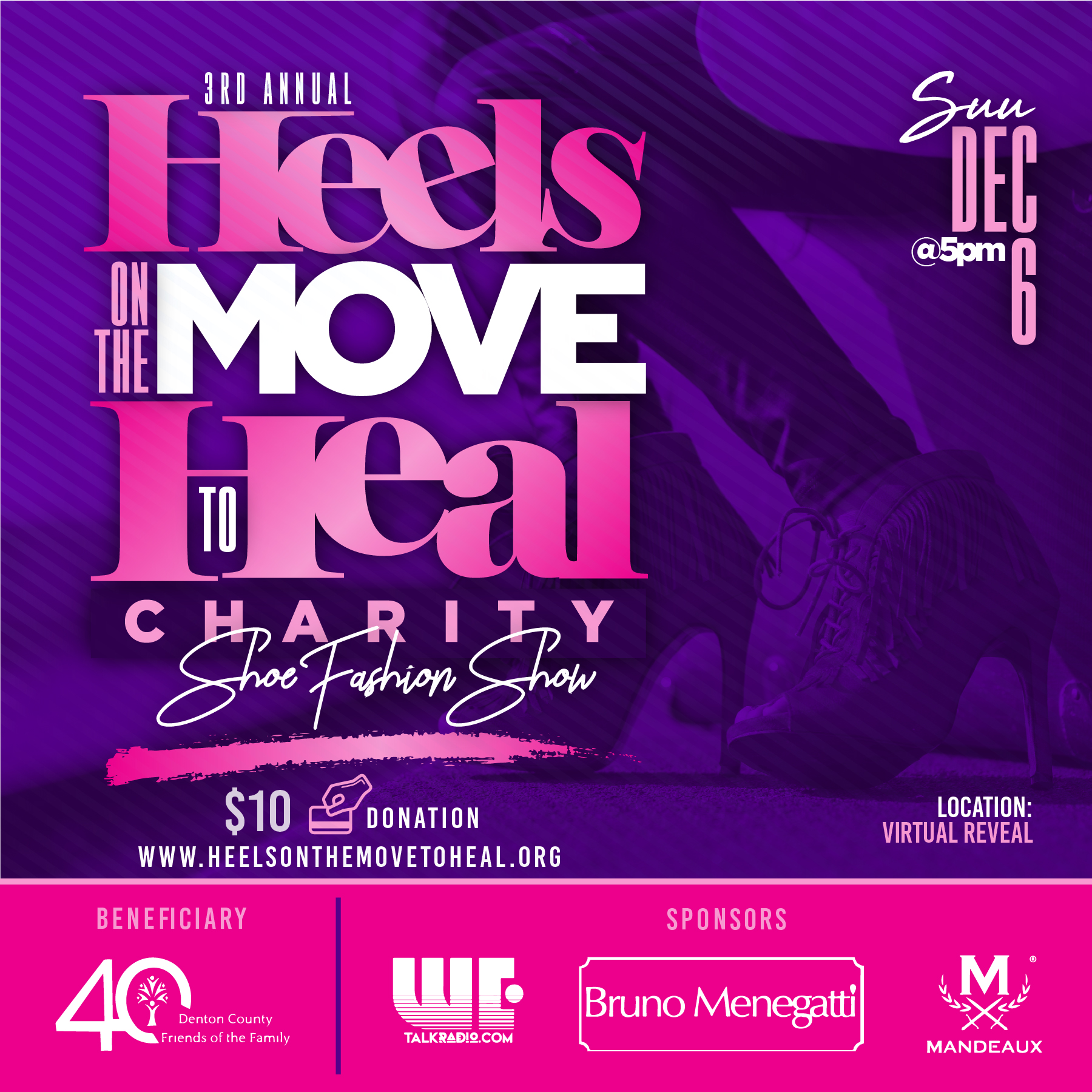 Heels on the Move to Heal logo