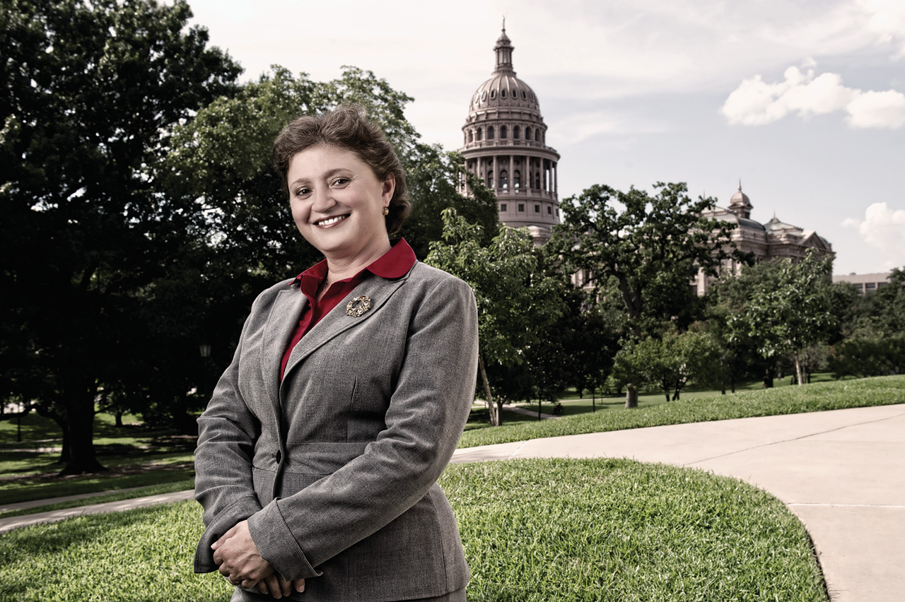Gabriela Borcoman ('04 Ph.D.) works as a senior program director for the Texas Higher Education Coordinating Board in Austin. (Photo by Gary Payne)