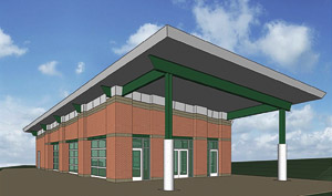 Rendering of the UNT Alumni Pavilion