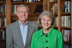 Jack Atkins and  Cathy Bryce ('91 Ph.D.) (Photo by Michael Clements)