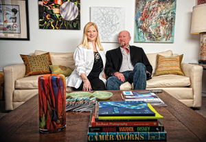 Cohn Drennan ('86 M.F.A.) and his wife, Catherine, owners of Cohn Drennan Contemporary gallery, feature UNT students alongside national and international artists. (Photo by Angilee Wilkerson)