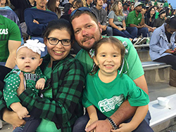 Claudia Cooper and family
