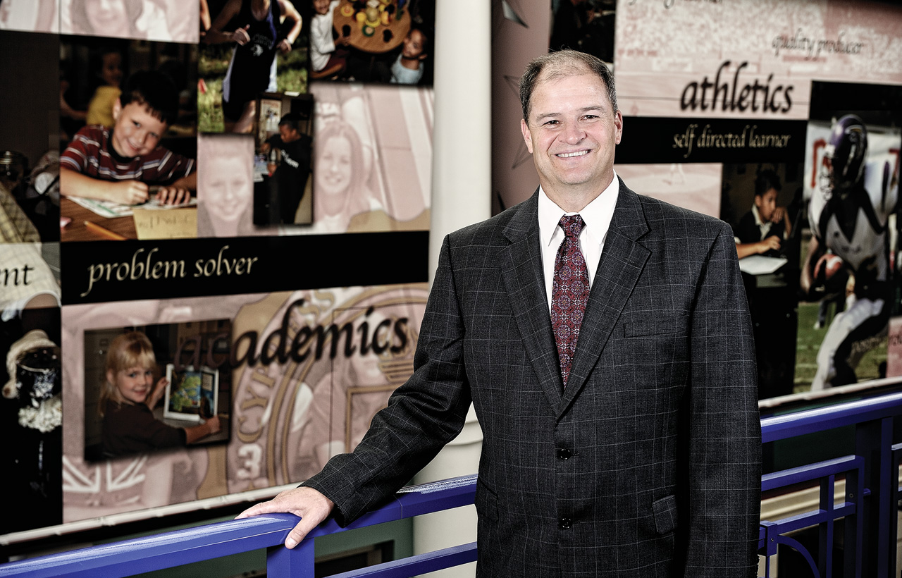 Mark Henry ('89 M.Ed., '92 Ed.D.) is superintendent of the Cypress-Fairbanks ISD in Houston, the third largest school district in Texas and the 25th largest in the nation. (Photo by Michael Clements)