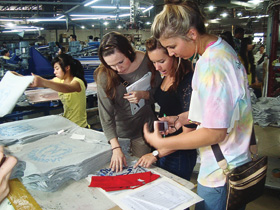 UNT students visit ZS Parlee Printing Co. in China as part of the Hong Kong/Beijing Study Abroad Program.