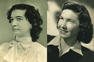 From left to right, Annie Wilkerson and Nancy Peden Kelly ('49)