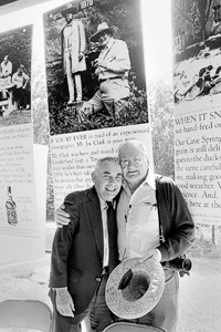 Art Hancock, left, and Joe Clark, right, in a photo taken by Junebug Clark at a reunion at the Jack Daniel's Distillery at Lynchburg, Tenn. (Photo courtesy of Junebug Clark)