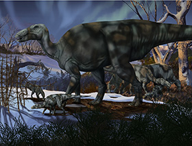 Alaskan Edmontosaurs, for the Perot Museum of Nature and Science