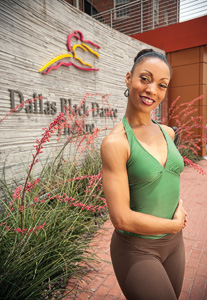 As assistant rehearsal director for Dallas Black Dance Theatre, Katricia Eaglin ('03) teaches choreography and tours the world with the company. (Photo by Angilee Wilkerson)