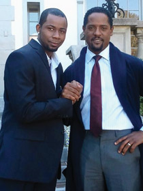 Kedrick Brown and Blair Underwood