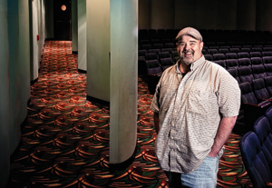 As managing director for the Denton Community Theatre, Mike Barrow continues his family's 40-year legacy in fostering theatre for the Denton community. (Photo by Angilee Wilkerson)