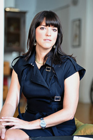 Roxanne Paschall ('94) has helped set global luxury fashion trends for Europe's top labels, most recently as the women's divisional merchandise manager for Gucci America. (Photo by Sasha)