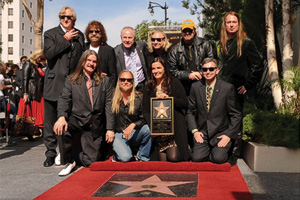 Barbara Orbison at Roy's Walk of Fame star in front of the historic Capitol Records Building in Hollywood, surrounded by family and friends. (Photo by Rob Shanahan)