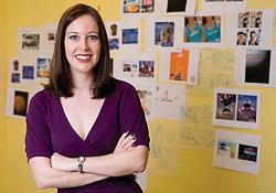 Amanda Sinele ('03), a freelance art director at Santa Monica home studio. (Photo by Rene Vernon)