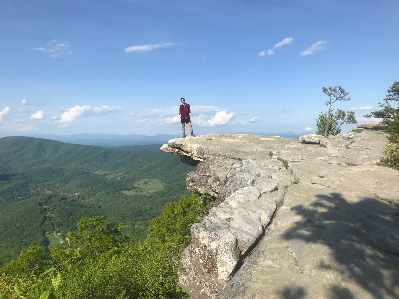 Brett Luce at McAfee Knob, Catawba, Virginia