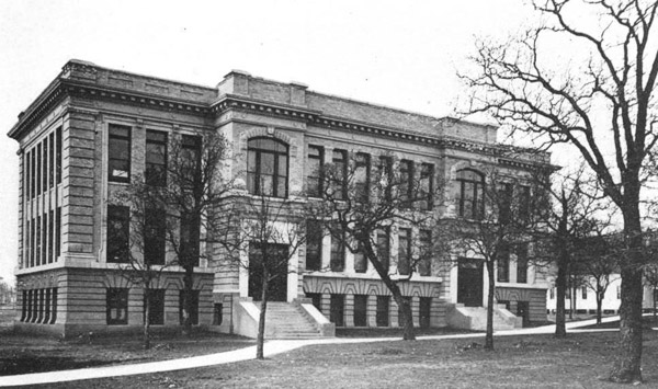 In 1910, W.N. Masters established the chemistry department and moved into the brand new Science Building, located on Avenue A where the Language Building is today. (The Science Building was removed in 1967).