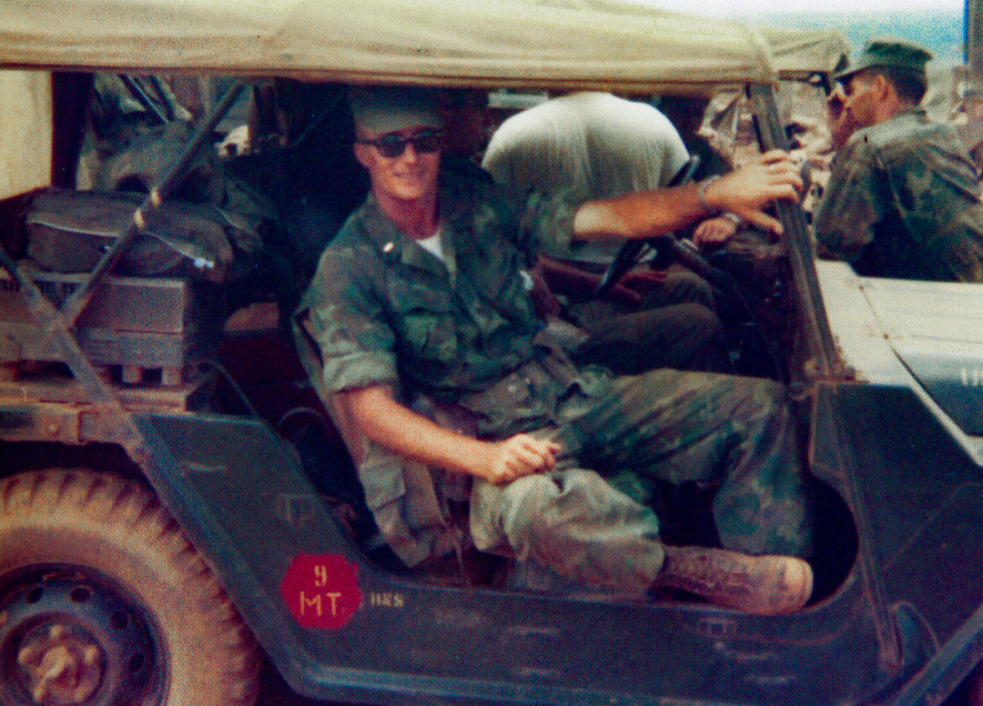 Brent Erickson in the military