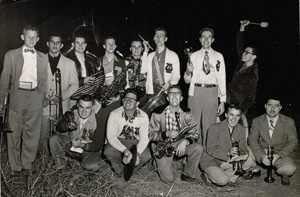 The pep band has some fun in 1951.