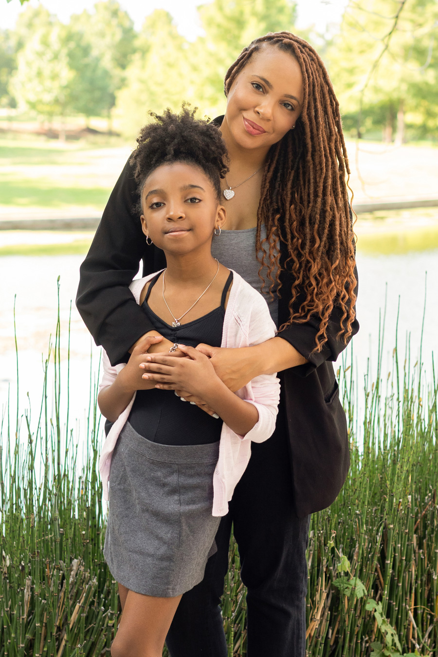 TaKiyah Wallace and her daughter. Photo by Esther Huynh