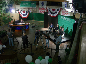 NTTV covers the Lone Star Grammy winning Eagle Election Night 2008. (Photo by Jonathan Reynolds)
