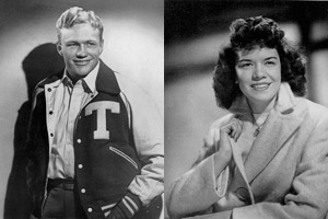 """Nancy Acker ('50) and Luther """"Bugs"""" Fambro ('50)"""