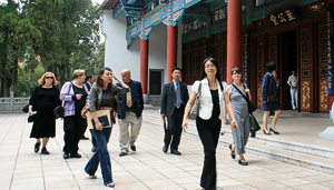 UNT delegation to China (Photo courtesy of UNT-International)