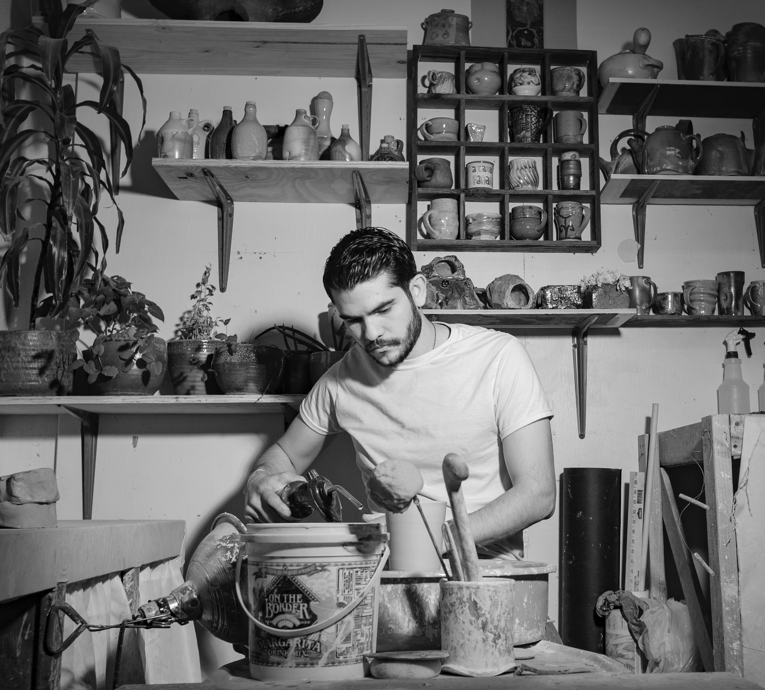 Horacio Casillas ('18 M.F.A.) was the first artist-in-residence at The Epic, where he was provided a loft and studio and was be able to work in countless mediums, including functional pottery with porcelain, throughout his stay.