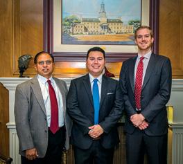 From left to right, Narendra Dahotre, Roberto Aguilar and Ryan Girardot (Photo by Gary Payne)