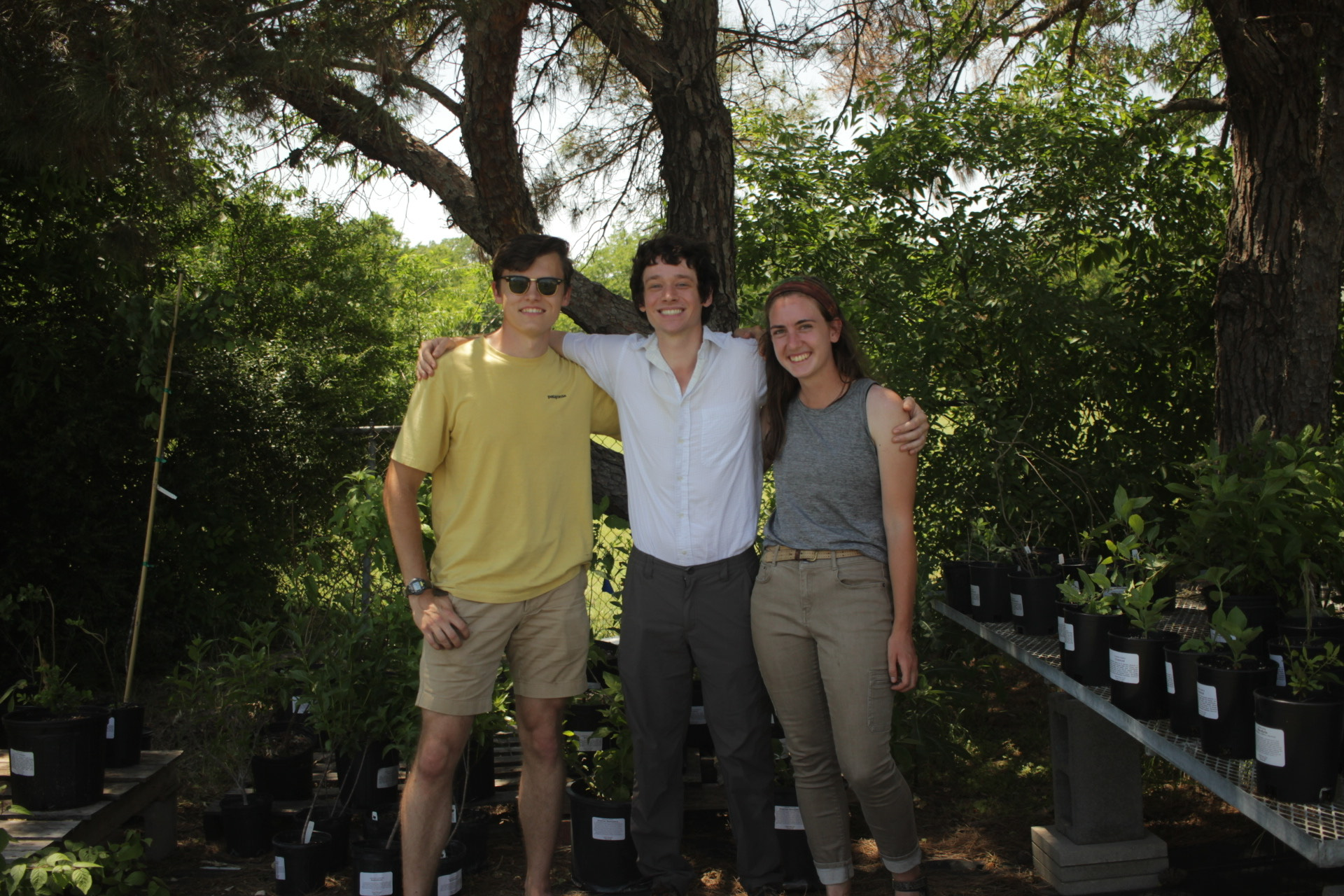 From left, Taylor Phillips ('19), Jesse Stanford ('19) and Molly Burke ('19).