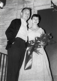 Beverly Ann Tidmore ('55) and Thomas Leeth ('55)