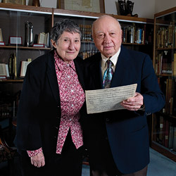 Nancy Bogen and her husband Arnold Greissle-Schoenberg (Photo by Gary Payne)