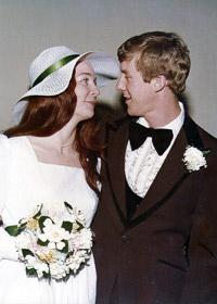 Max Raymond ('76) and Priscilla Langston ('77) weeding photo