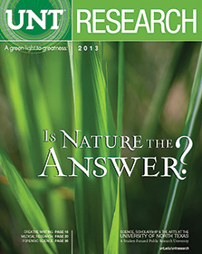 2013 UNT Research magazine cover