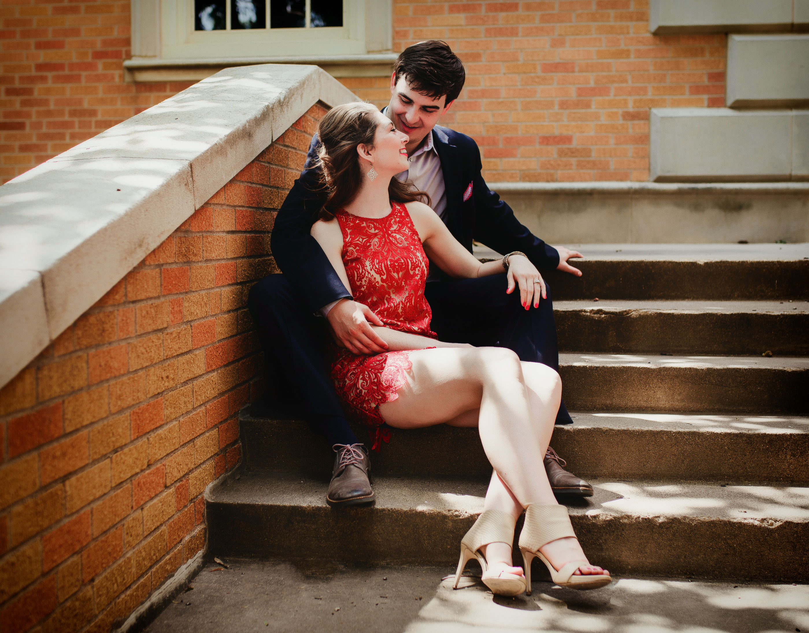katy Beth Irwin McGahey ('17) and Ryan McGahey ('17, '18 M.B.A.) got engaged at UNT's Hurley Administration Building.
