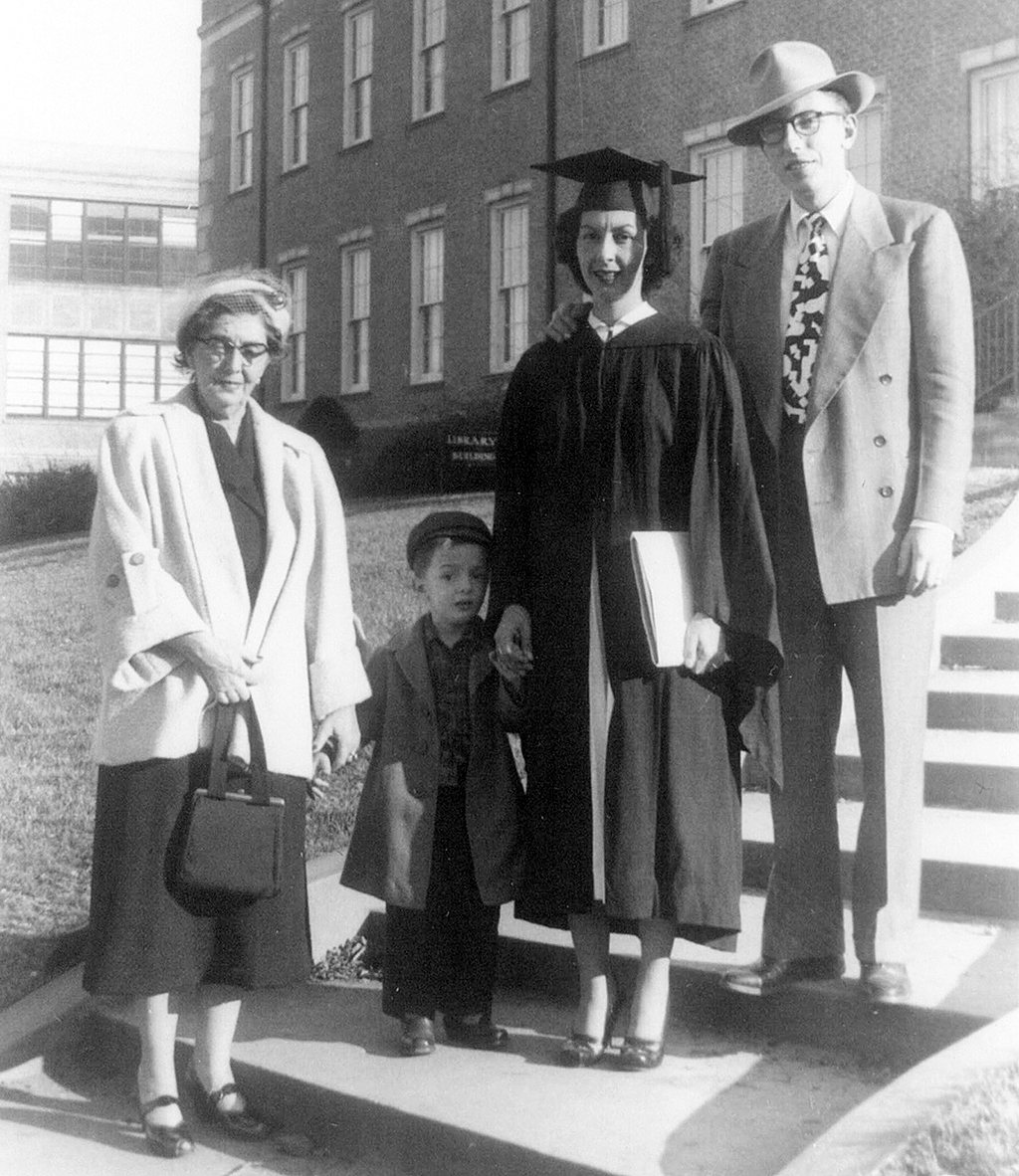 Helen Schlueter and family at her graduation